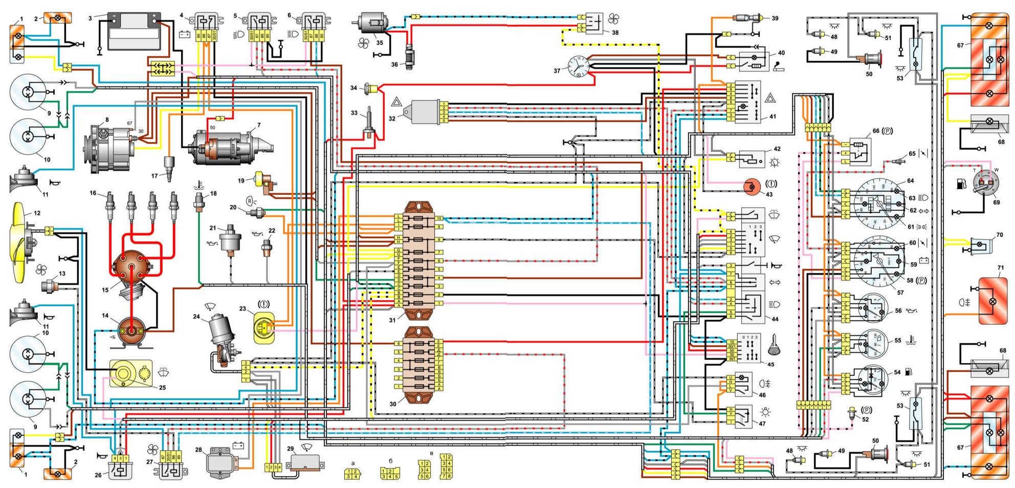 Схема соединений ваз 2106 фото 987